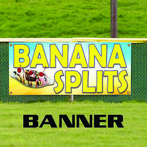 Banana Splits Restaurant Ice cream Shop Business Advertising Vinyl Banner Sign