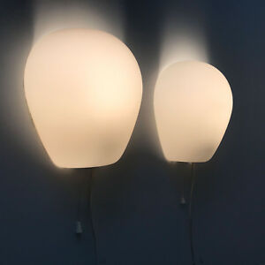 Pair Mid Century Wall Lamps Sconces Wall Shell 2681 By Wilhelm Wagenfeld 1952