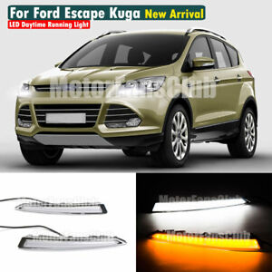 Drl Daytime Running Light Turn Signal Lamp For Ford Escape Kuga 2013 2014 2015