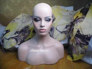 2018 High Quality Fiberglass Female Mannequin Head Bust For Wig Jewelry Display