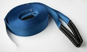 3 x30 Blue 14000lbs Tow Strap Winch Sling Vehicle Recovery 6 5ton Off Road Utv