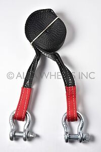 2 4 Ton Tow Strap 30 Ft W D Rings Sling Utv Snatch Recovery 4wd Snow Mud Pull