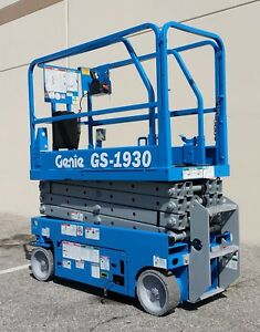 2008 Electric Scissor Lift Genie Gs 1930 Boom Aerial Man Lift