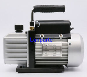 110v High Performance 1 stage Vacuum Pump Rotary Vane Deep 3cfm 1 2hp