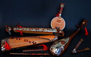 Collection Antique Vietnamese Musical Instruments Vietnam Chinese