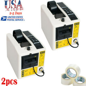 2 automatic Tape Dispensers Adhesive Tape Cutter Packaging Packing Machine 3led