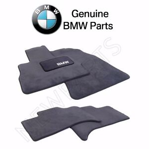 New For Bmw E53 X5 Set Of 4 Carpeted Floor Mats Anthracite Genuine 82110008635