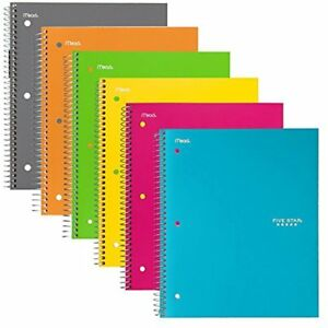 Spiral Subject Notebooks Notebooks Subject College Ruled Paper 100 Sheets