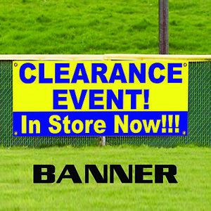 Clearance Event In Store Now Offer Business Vinyl Banner Sign