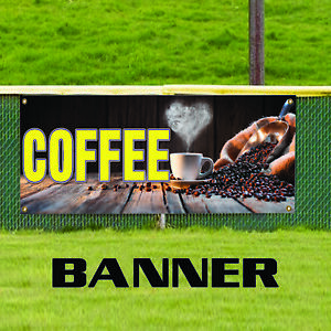 Coffee Kitchen Hotel Restaurant Advertising Business Vinyl Banner Sign