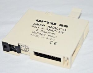 Opto 22 Snap aiv Analog Input Module 2 Channel Voltage 10 Input 5vdc