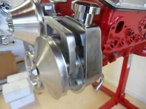 Saginaw Power Steering Pump Chrome Includes Double Pulley Chev Holden