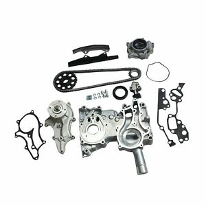 For Toyota 2 4l 22r Re Timing Chain Kit Steel Guides Cover Oil Water Pump 85 95
