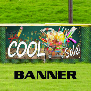 Cool Sale Back To School Stationary Pencil Books Copy Vinyl Banner Sign