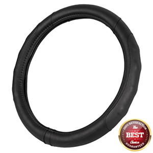 Synthetic Leather Auto Car Steering Wheel Cover Black Comfort Grip Small 13