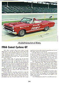 1966 Mercury Comet Cyclone Gt Convertible Article Must See