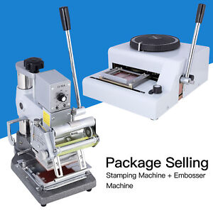 72 Character Manual Embosser Machine hot Foil Stamping Printing Machine Pvc Card