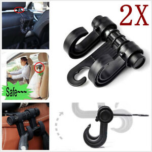 2pc Hot Universal Car Truck Suv Seat Back Hanger Organizer Hook Headrest Holder