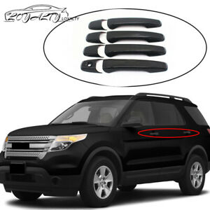 For 2011 2018 Ford Explorer 2012 2014 Ford Edge 4 Door Handle Covers Gloss Black