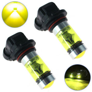 2x Best 4300k Yellow High Power 100w 2323 Led 9006 Hb4 Fog Driving Light Bulbs