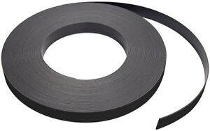 Flexible Magnet Strip With Black Vinyl Coating 1 32 Thick 1 Height 50 Fe