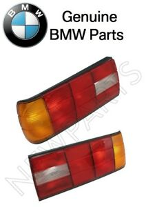 For Bmw E30 318i Pair Set Of Left Right Taillights Lens Genuine