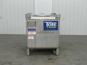 Tote Tank 516927 Stainless Steal Tote 350 Gallon d5831