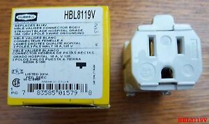 5 Hubbell Hbl8119v 15 Amp 125 Volt 8119v Connector Valise Hospital Grade Female