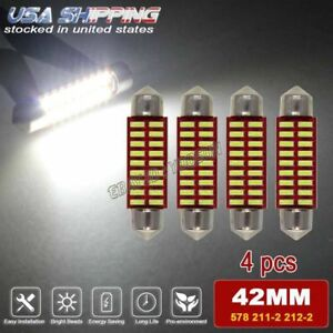 4x Festoon 41mm 42mm 18 Smd White Led Light Interior Dome Bulb Lamp 578 211 2