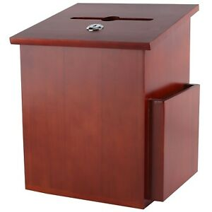 My Charity Boxes Wood Suggestion Box Ballot Box With Pocket Locking Hin