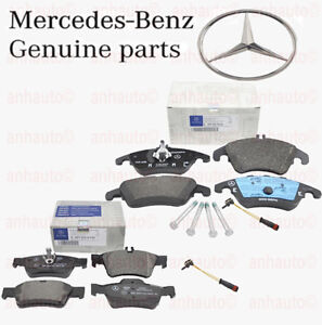 Genuine Mercedes Benz Front Rear Brake Pad Set With Sensors E250 E350 E400