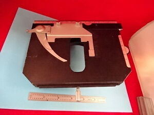 Nikon Japan Labophot Stage Micrometer Table Microscope Part As Is