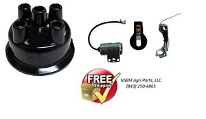 Distributor Cap Igntion Tune Up Kit John Deere 1010 2010 2020 2030 2510 2520