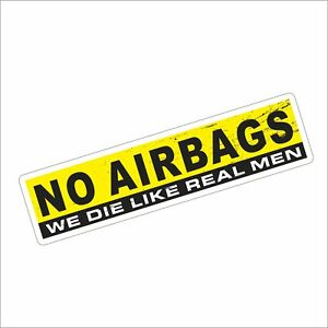 3m Graphics No Airbags Vinyl Helmet Tool Box Motorcycle Car Window Sticker Decal