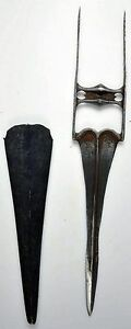 Pre 1800 Indian Armor Piercing Katar Dagger From A Rajasthan Armoury 7123