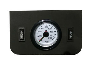 Air Ride Suspension Dual Needle Airgauge Panel 200psi 2 Rocker Switch Controlxzx