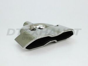Vintage Dt 24165 Dual Double Wall Hexagon Exhaust Tip 2 25 Inlet 11 7 Length