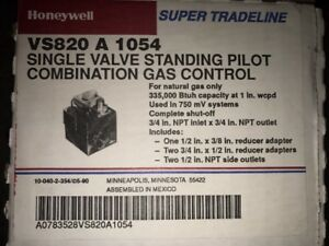 Honeywell Vs820a1054 Powerpile Millivolt Combination Gas Valve 3 4 X 3 4 Npt