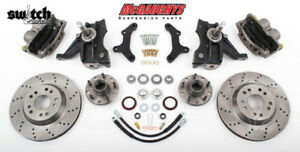 Chevrolet C 10 1963 1970 5x4 75 Disc Brake Kit Cross Drilled 2 5 Drop Spindles
