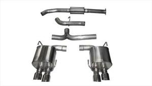 Corsa Cat back Exhaust Dual Rear Exit Pol Quad Tips For Subaru Wrx 2 0l Turbo