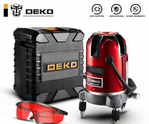 Deko 360 Degree Cross Line Laser Level Self Leveling Horizontal Vertical 5 Lines