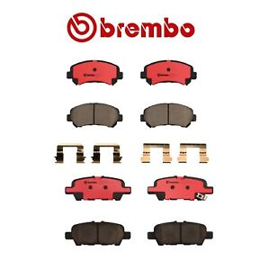 For Front Rear Ceramic Disc Brake Pad Set Brembo For Nissan Juke Maxima