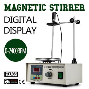 Magnetic Stirrer With Hotplate Digital Mixer Heating Plate Control 220 110v New