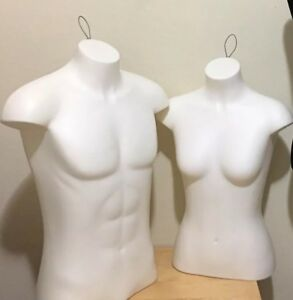 used 3 Mannequin Torso Form Display Female Male
