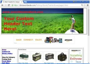 Turnkey Fishing Store Website For Sale Free Bonuses Free Set Up plus Much More