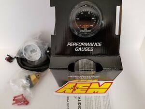 Aem Power 52mm Digital Gauge Oil Fuel Pressure 0 100 Psi 7 Bar Universal New