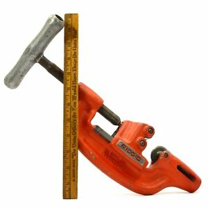 Briefly Used Ridgid 360 Pipe Cutter For Use With 300 Pipe Threader 1 8 2 Range
