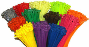 4 Multi Color Nylon Cable Ties tie Wraps Network Zip Ties Black yellow Green