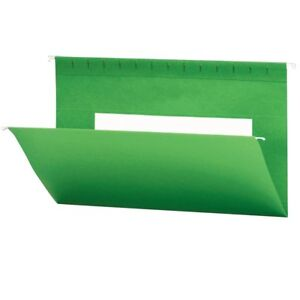 Smead Hanging File Folders With Interior Pocket Legal Size Dark Green 25 Per