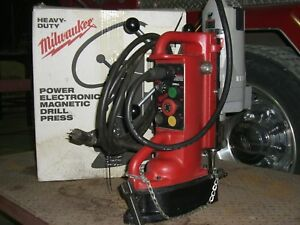 Milwaukee Heavy Duty Power Electronic Magnetic Drill Press